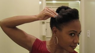 Twisted Updos & Pompadours- Protective Hairstyle