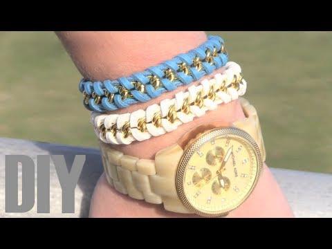 7d114bb495ba DIY Como hacer pulseras con cadenas - YouTube