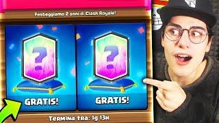 Trovo 2 LEGGENDARIE GRATIS! Anniversario Clash Royale