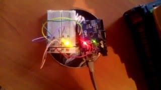 Arduino   светофор с предупреждением об окончании времени