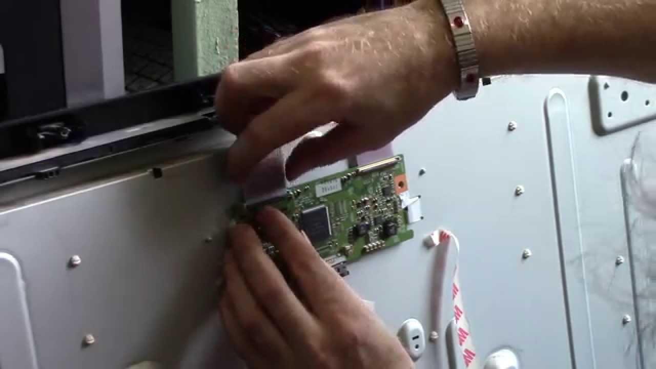 Как разобрать ЖК панель (телевизор) для ремонта подсветки - YouTube