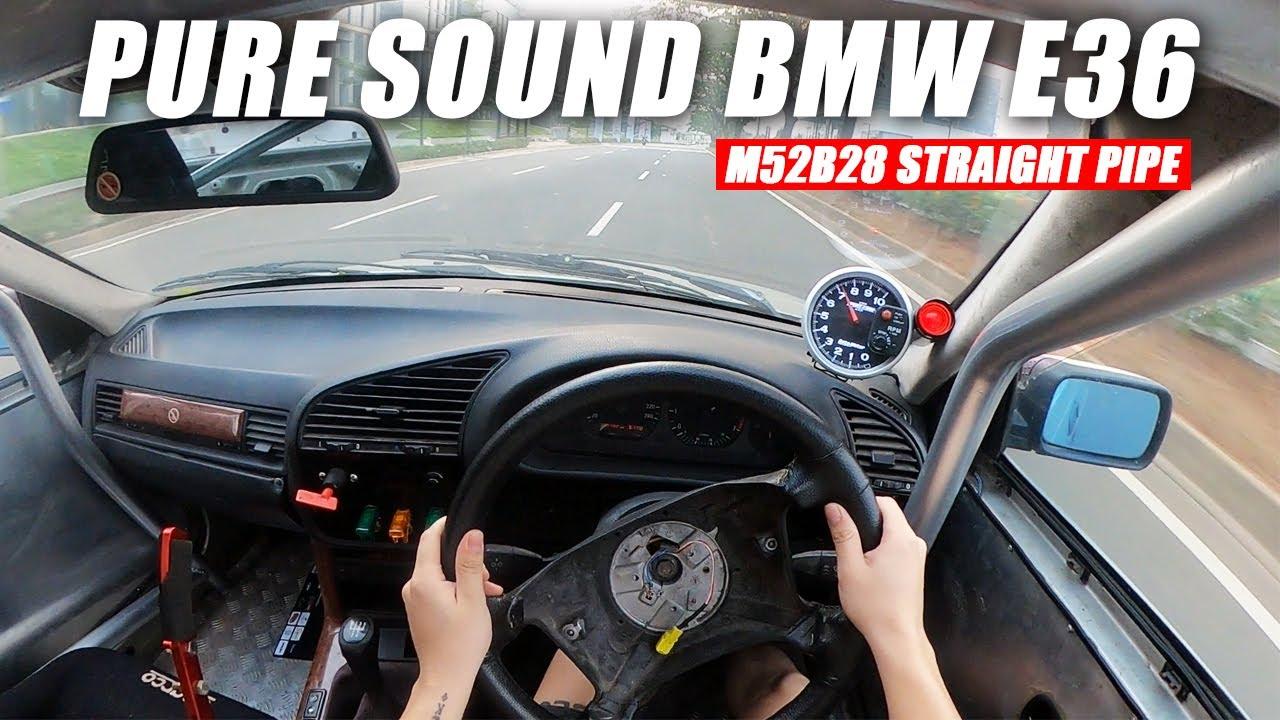 JALAN SORE NAIK BMW E36 M52B28 | PURE SOUND POV CAMERA
