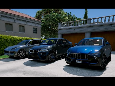 Gta V Maserati Levante Vs Bmw X6m Vs Porsche Cayenne Turbo S Gta 5 Youtube