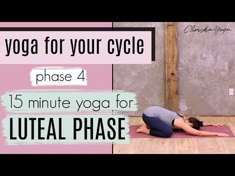 15 Min Yoga for the Luteal Phase | Yoga for Your Cycle | Fertility Yoga | ChriskaYoga