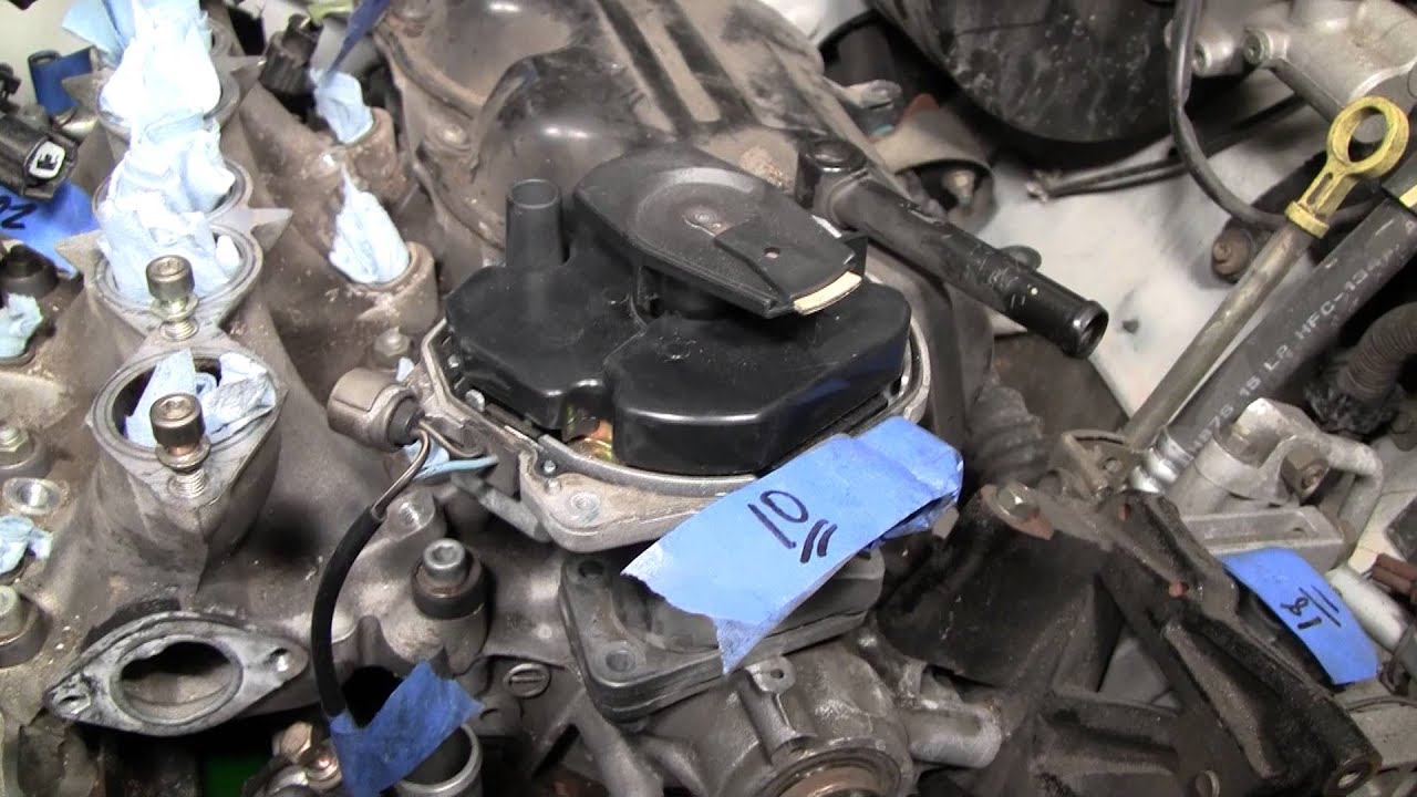 2002 Nissan Xterra VG33E Rebuild Step by Step Part 34  Distributor Removal Woes  YouTube