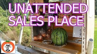 野菜 の 無人販売 【 Travel Japan うろうろ和歌山 】unattended sales place Greengrocer in the country Japan 産直