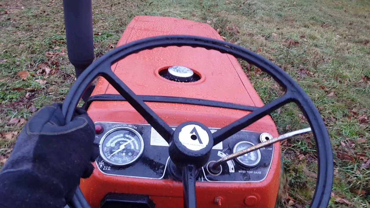 Allis Chalmers 5030 tractor & Ford 917L flail mower POV