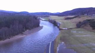 Ballater to Braemar road washed away by storm Frank
