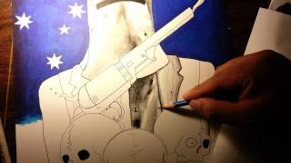 How to draw Ned Kelly 2
