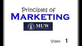 BU 361 Marketing, Chapters 1-4