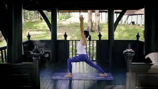Yoga by the lake at Dusit Thani Laguna Phuket