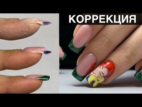 Мультик на ногтях/ Коррекция на себе