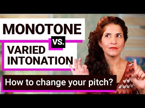 How to change your pitch in English so you don't sound monotone   American intonation lesson