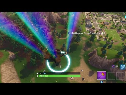 """Skydive through floating Rings"" ALL LOCATIONS! Fortnite Week 10 Challenges!"