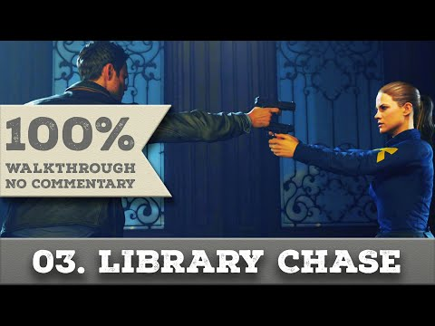 Quantum Break Walkthrough part 3 LIBRARY CHASE (Hard, All Collectibles)