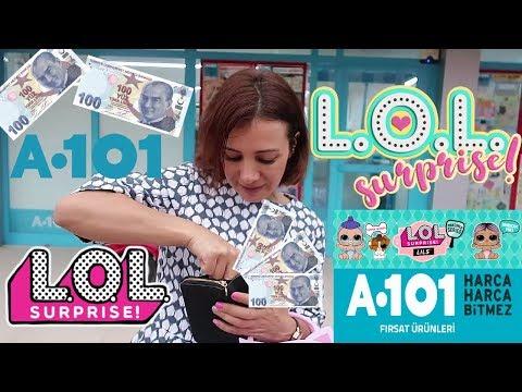 """100 tl A101 """"Lol Sürpriz Bebek"""" AKTÜEL ÜRÜNLER Challenge Bidünya Oyuncak🦄"""
