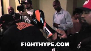ADRIEN BRONER SELECTS HIS GLOVES FOR CLASH WITH KHABIB ALLAKHVERDIEV
