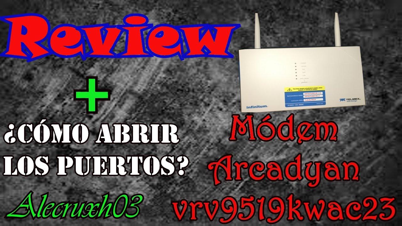 Review del Módem Arcadyan Modelo VRV9519KWAC23 l 2016 En español