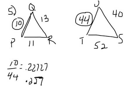 Geometry in class AA SSS wksht#4,5. Similar triangle