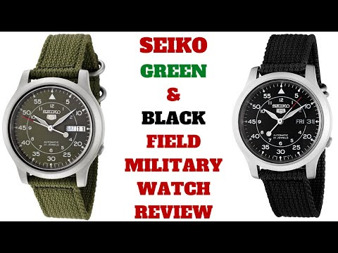 SEIKO5 AUTOMATIC GREEN & BLACK MEN'S WATCH REVIEW MODEL: SNK805, SNK809
