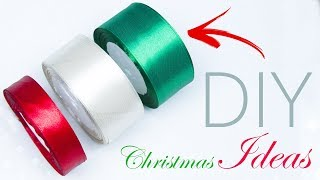 DIY Ideas for Christmas Tree Decorations | Ribbon Christmas ornament | Beads art