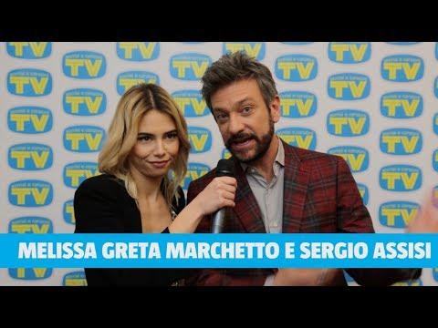Sergio Assisi e Melissa Greta Marchetto in redazione a Sorrisi a Sanremo
