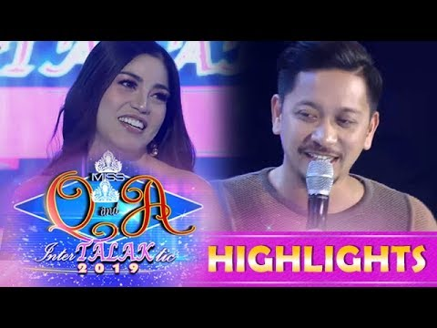 It's Showtime Miss Q and A: Jhong Hilario attracts by Anne Patricia Lorenzo's beauty | Resbek Day 1