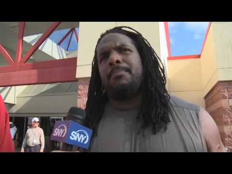 "Jets OL Willie Colon calls Nick Mangold, ""Goldy""."