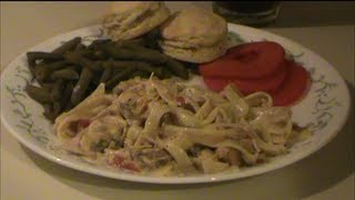 Turkey Tetrazzini From Food Storage