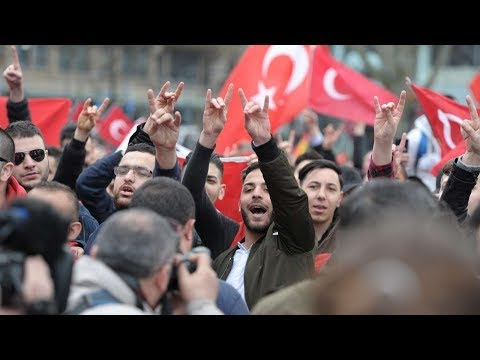 Turkish Fascist Grey Wolves Rallies Germany