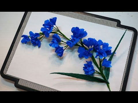 How to make paper flower (lavender flowers) - Easy origami flowers for beginners making