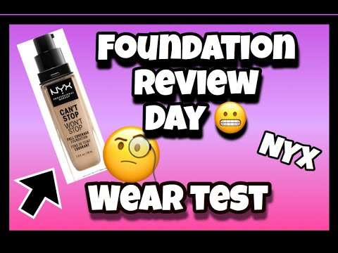 Best Foundations / NYX wear test and review/ is it one of the best?
