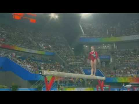 Bridget Sloan - 2008 Olympic Games - Qualifications Beam
