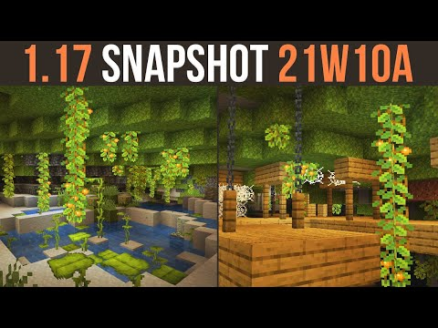 Minecraft 1.17 Snapshot 21w10a Lush Caves Are Here!