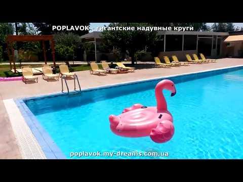 Розовый фламинго огромный надувной круг