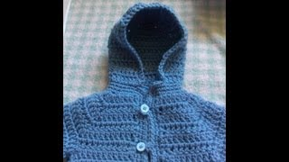 Repeat youtube video How to add a crochet hoodie or collar to your baby cardigan / baby sweater