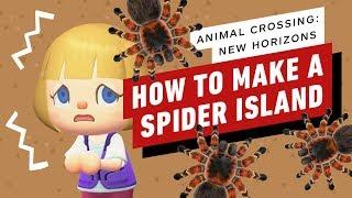 Animal Crossing: New Horizons - How to Make Your Own Spider Island (Tarantula Farming Tips)