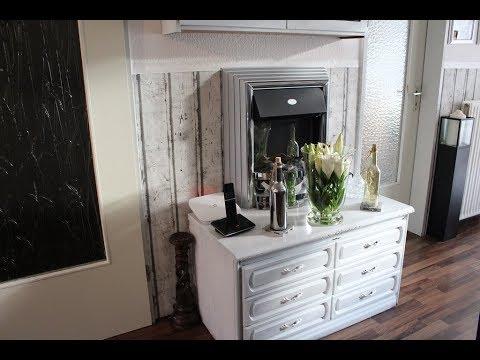 Dunkle Möbel sehr günstig in weiß streichen I Meine Wohnung vorher