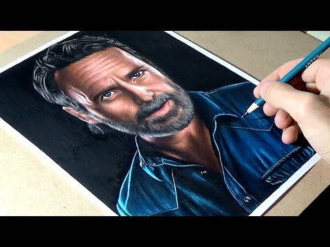 Drawing Rick From The Walking Dead - Video Made For Arteza