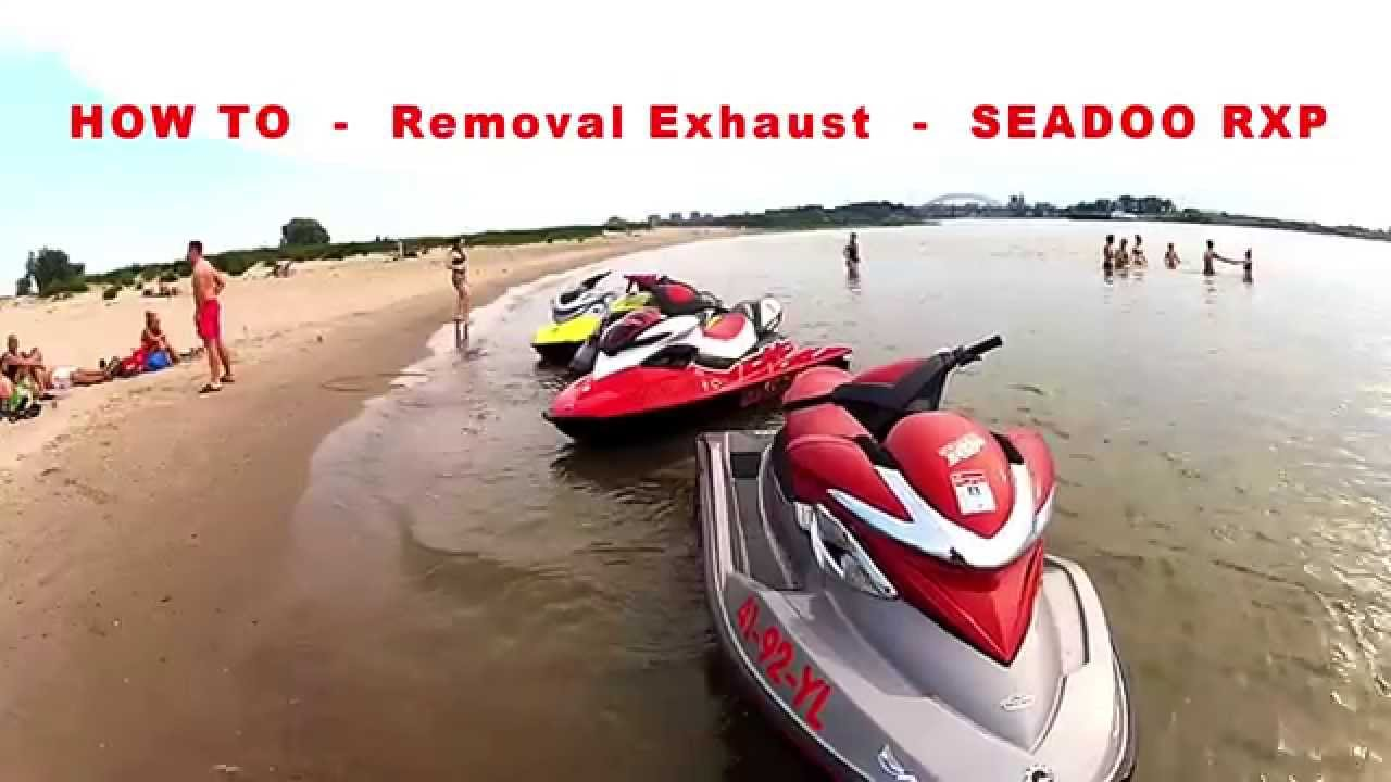 HOW TO - Replace Exhaust Seadoo RXP 4tec musclecraft