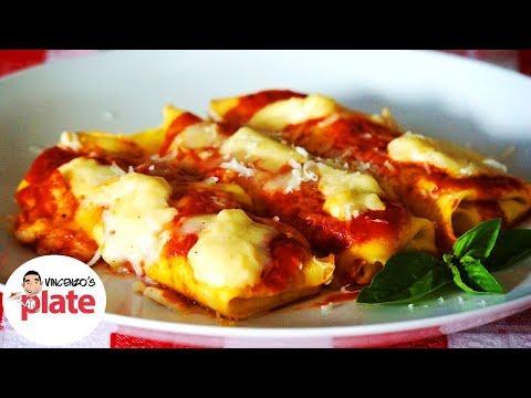 BEST CANNELLONI RECIPE | Ricotta Cheese and Spinach Cannelloni Pasta | Veg Italian Recipes