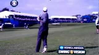 Tiger Woods Ferocious Swing!!! Torrey Pines 2013