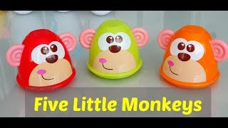 Five Little Monkeys Jumping on the Bed * Songs for Kids