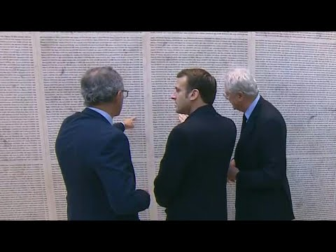 AFP News Agency: French president inaugurates renovated 'Wall of Names' memorial honouring Holocaust victims | AFP