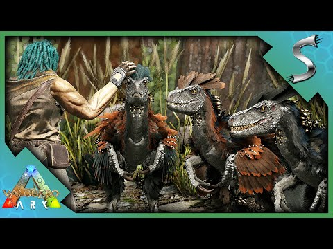 HATCHING OUR DEINONYCHUS PACK AND HUNTING! - Ark: Valguero [DLC Gameplay E6]