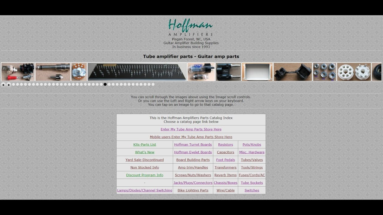 Hoffman Amplifiers parts catalog pages