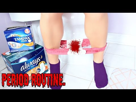 My Period Morning Routine ! Hacks ALL GIRLS NEED TO KNOW !!