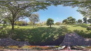 【6K 360 VR】浜離宮恩賜庭園 ベンチでのんびり