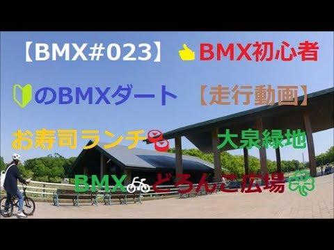 【BMX#023】👍BMX初心者🔰のBMXダート 【走行動画】 お寿司ランチ🍣大泉緑地BMX🚲どろんこ広場☘️