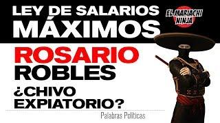 Ley de salarios máximos | Rosario Robles ¿Chivo expiatorio?